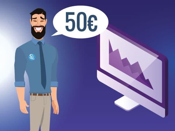 Guida su come investire in borsa 50 euro IMG by Investireinborsa.org