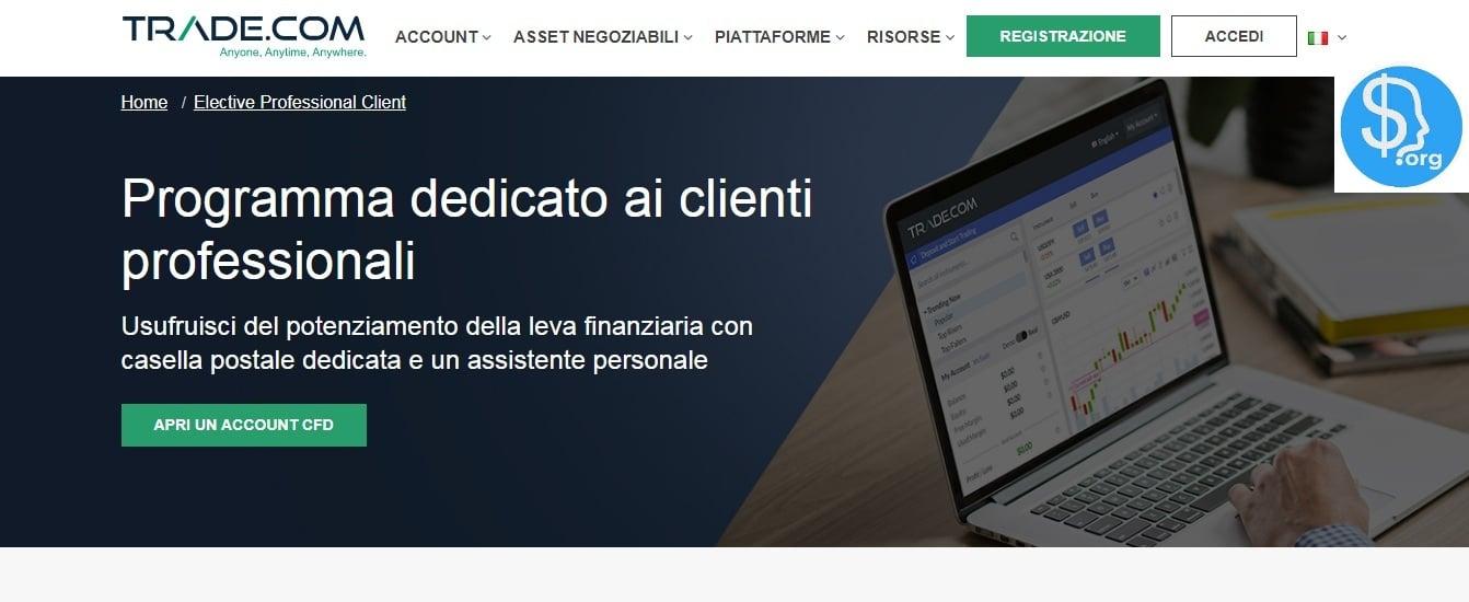 Trade.com clienti professionali