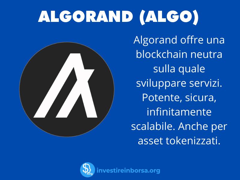 Scheda riassuntiva Algorand - a cura di InvestireInBorsa.org