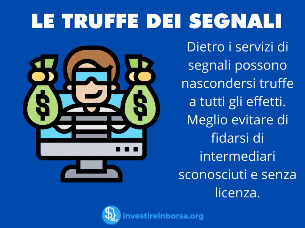 Segnali Forex - Truffa - infografica di Investireinborsa.org