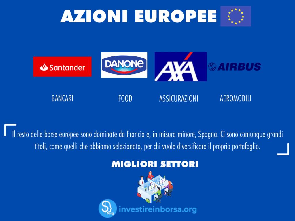 selezione azioni da comprare in europa - infografica